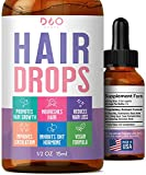 Hair Drops - Hair Growth Liquid Formula for Thick Hair - Support for Hair Loss & Thinning Hair, Improve Shine - Potent Hair Growth and Strengthening Supplement for Women and Men
