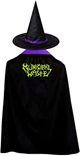 Municipal Waste Christmas Halloween Child Wizard Witch Cloak Cloak and Hat Red