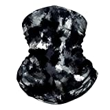 Neck Gaiter Face Mask Reusable, Cloth Face Masks Washable Bandana Face Mask, Sun Dust Protection Balaclava Face Cover Scarf Shield for Fishing Cycling Ink-Black