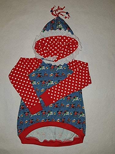 Mädchen Shirt Milli, weiße Punkte Gr 122, Kapuzenpulli, Bunter Hoodie