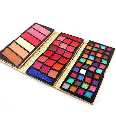 RY@ 66 Colors Poudre + Fards à Paupières + Gloss Sec / Humide / Mat / Lueur Yeux / VisageGloss pailleté / Longue Durée / Correcteur /