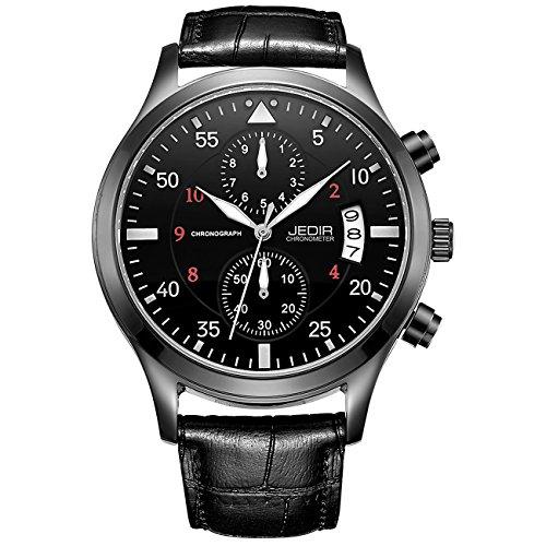 JEDIR Chronograph Herren Uhr Multifunktional Militärische Taillenuhr mit Datumsfenster Metallgehäuse, lässiges Design