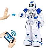 Smart RC Robots for Kids Remote Control Robot for Boys, Aukfa Programmable Gesture Sensing Robotic Toys Boys Singing Walking Dancing Robot Birthday Gift Present for Boys Kids