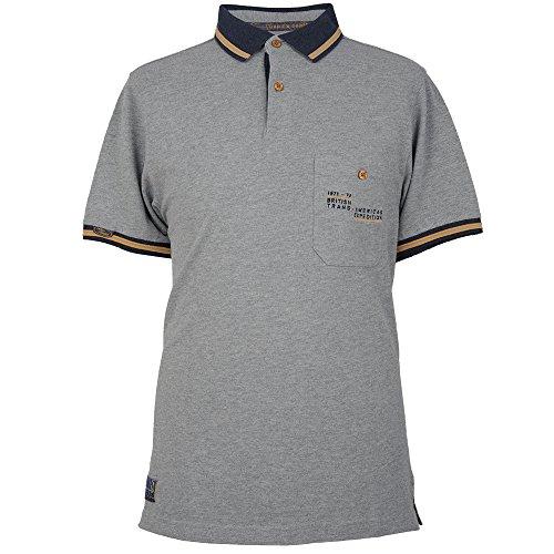 Land Rover Herren Heritage Polo Shirt L grau