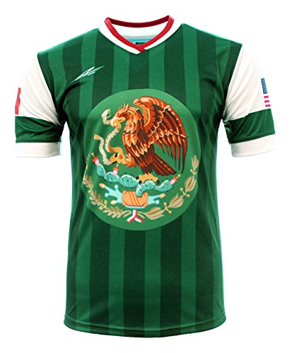 Arza Sports Men's Mexico and USA Jersey (X-Large) Green