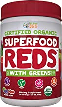 SUPERFOOD VITAL REDS & GREENS | Red & Green Veggie Superfood Powder | 100% USDA Organic Non-GMO Vegan Supplement | 40+ Whole Food Ingredients including Probiotics, Prebiotic Fiber & Digestive Enzymes