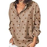 カットソー ゆったり Tシャツ Hodarey レディース カジュアル 水玉柄 シンプル ブラウス ポケット付き 長袖 おしゃれ 可愛い トップスきれいめ 柔らかい 春夏秋 対応 シャツ かっこいい ワイシャツ 体型カバー 大きいサイズ 通学 通勤