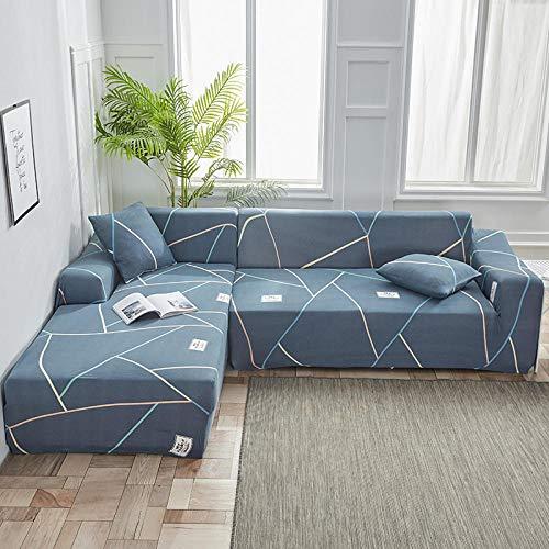 Muebles elásticas Fundas de sofá 4 plazas, Funda de sofá Funda elástica para sofá para Sala de Estar, Funda de sofá Chaise Longue en Forma de L EE 235-300cm