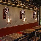 Wandleuchte E27 Vintage Wandlampe Retro Wandbeleuchtung Kreative Beleutung für Treppenhaus Flur Cafe Bar Restaurant Hotel (Bronze) - 7