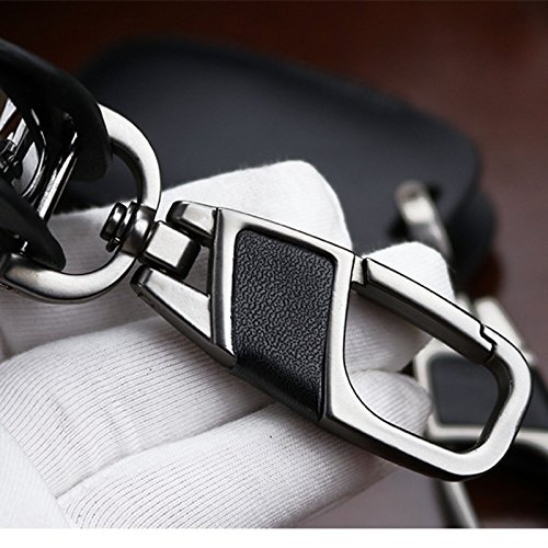 Genuine Leather smart case cover for Land Rover key chain fit Range Rover Sport Discovery 2 3 4 Freelander Evoque holder bag