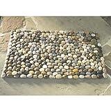 """Vivaterra Indoor Outdoor Smooth River Rock Stone Floor Mat 29.5"""" x 20"""""""
