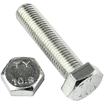 2 Stk DIN 961 Sechskantschraube M16x1,5x30 Feingewinde ann/ähernd bis Kopf Stahl verzinkt
