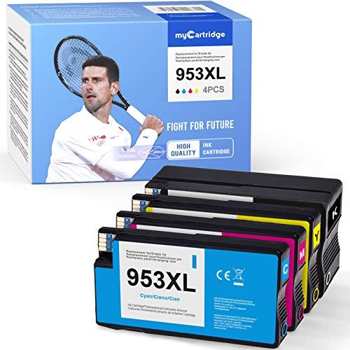 Mycartridge 4 Compatible para HP 953XL 953 XL Multipack Cartuchos de Impresora para HP OfficeJet Pro 7720 7730 7740 8210 8218 8710 8715 8720 8725 8730 8740 All-in-One