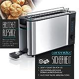 Arendo – Automatik Toaster Langschlitz   mit Defrost Funktion   Wärmeisolierendes Doppelwandgehäuse   Automatische Brotzentrierung   Brötchenaufsatz   herausziehbare Krümelschublade  GS-zertifiziert - 2