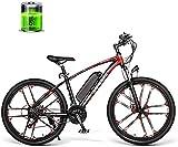 MQJ Ebikes 26 Pulgadas Montaña Cross Country Bicicleta Eléctrica 350W 48V 8Ah Eléctrica 30Km / H Alta Velocidad Adecuado para Adultos Masculinos Y Femeninos