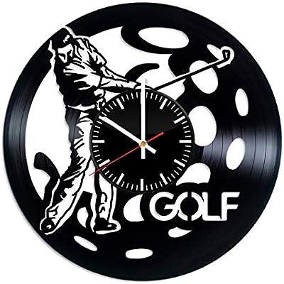 OlhaArtShop Golf Game Vinyl Wall Clock, Sport Vinyl Record Handmade Art Decor for Home Room