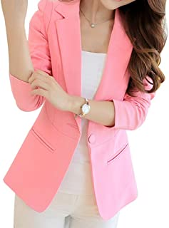 COODIO Women Casual All-Match Solid Color Slim Long Sleeve Jacket-Clothes