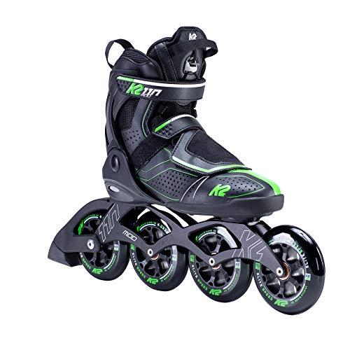 K2 Inline Skates MOD 110 Für Erwachsene Mit K2 Softboot, Black - Green, 30E0121