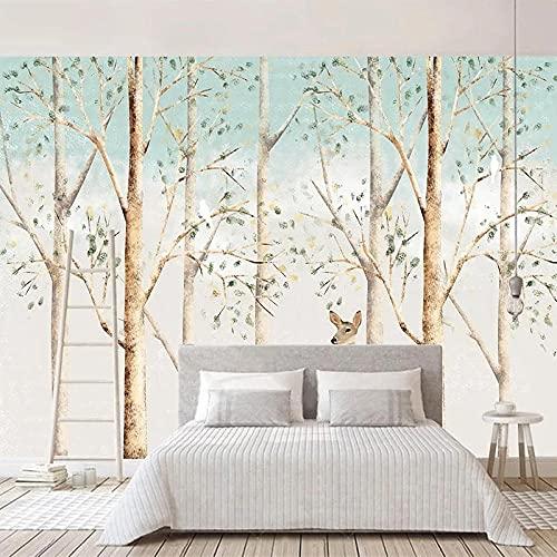 Papel tapiz fotográfico moderno pintado a mano Rlk Forest Murales Sala de estar TV Sofá Fondo Pared Decoración para el hogar