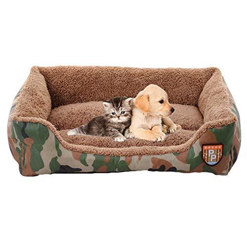 GCSEY huisdier nest katten bed, zachte warme jungle camouflage bank hond bed huis, waterdicht en ademend herfst en winter huisdieren nest Medium