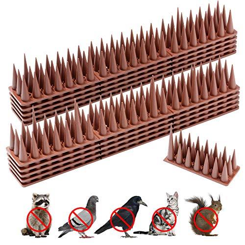 WeyTy 5,7 Meter Taubenabwehr, Vogelabwehr Spikes 28,5x4x3,5 cm Taubenspikes Sollbruchstelle, Vogel Spikes für Zäune Balkon Dach Fenster