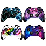 xbox controller stickers - eSeeking [4PCS] Whole Body Vinyl Sticker Decal Cover Skin for Xbox One Controller - 4pcs. Combination