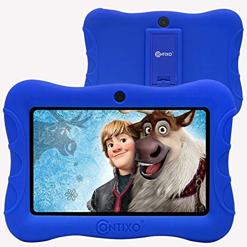 Contixo 7' Kids Tablet V9-3 Learning Toy Android 9.0 Parental Control Tablets 2GB RAM 16GB Touchscreen HD Display WiFi Camera 20 Education Apps Best Gift(Dark Blue)