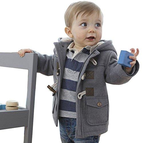 Odziezet Cappotto con Cappuccio per Ragazze Bambini Giacca Manica Lunga Invernale Capispalla Imbottito Caldo(0-4 Anni)