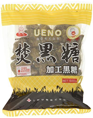 [上野砂糖] 上野焚黒糖 (加工黒糖) 固形タイプ 500g×2 /和洋菓子/料理などに