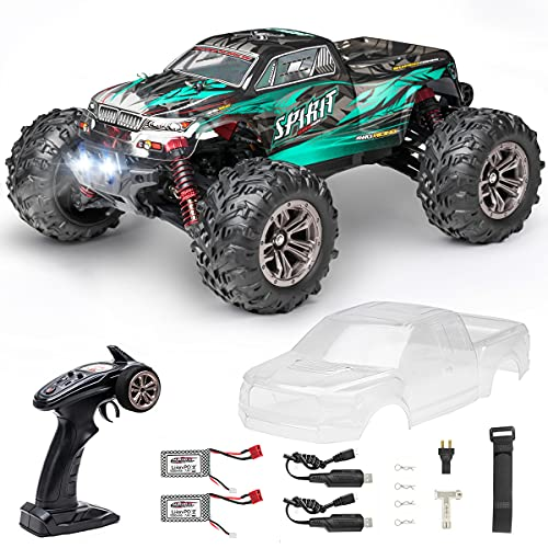 Hobby RC Trucks, FLYHAL Q901 Pro Brushless Remote Control Truck Fast RC Cars 50mph 62KM/H 1:16 Scale High Speed 4WD Monster Truck for Adults and kids All Terrain Truck with Extra Shell 2 Batteries