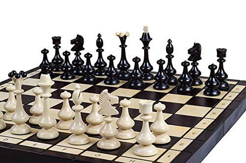 Master of Chess Juego de ajedrez de Madera Outlander Grande 46 cm...