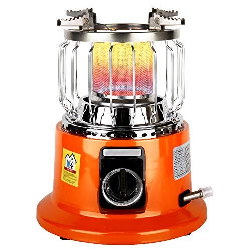 ストーブ屋内および屋外LPGヒーター 2 合 1天然ガスヒーター、安全保護付き、電源不要 防災対策3000W