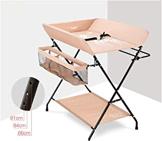 Diaper Table Baby Care Table Baby Oxford Cloth Steel Pipe Portable Changing Pad Adjustable Portable Travel Kit - Baby Baby Changing Station Foldable (Color : A)