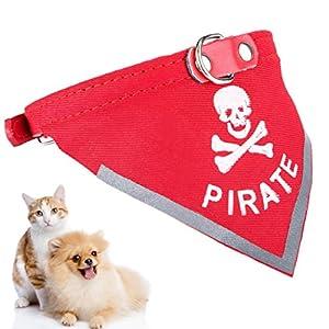 Dog Bandana Collar, Legendog Cat Bandana Skull Pattern Dog Scarf Collar Pet Adjustable Bandana L