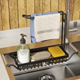 PPuujia Cesta para fregadero de cocina, escurridor, estante de almacenamiento, organizador de fregadero, contenedor, accesorios de cocina de baño (color : grande)