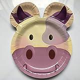 Carpeta 8 Teller * LUSTIGE Kuh * für Kindergeburtstag oder Mottoparty | Plates Pappteller...
