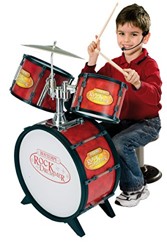 Bontempi–526800–Musikinstrument–Akku Riesige 3Trommeln + Pflanzstab Elektronische