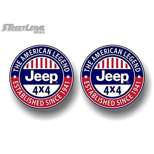 1941 Stickers Jeep Wrangler Rubicon 4x4 Door Vinyl Decals American Legend est