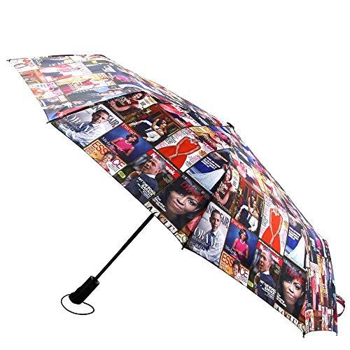 Michelle Obama Magazine Print Retractable Umbrella
