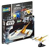 Revell R2D2 Star Wars Set Naboo Starfighter, en Kit Modelo con Base Accesorios, fácil Pegar y para pintarlas, Escala 1:109 (63611), 10,0 cm de Largo