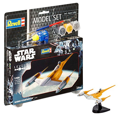 Revell R2D2 Star Wars Set Naboo Starfighter, en Kit Modelo...