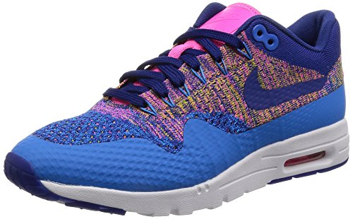 Nike Womens W Air Max 1 Ultra Flyknit Photo Blue/Deep Royal Nylon Size 8.5
