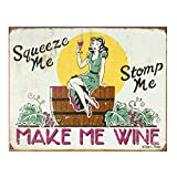 YASMINE HANCOCK Make Me Wine Metall Plaque Zinn Logo Poster Wand Kunst Cafe Club Bar Wohnkultur