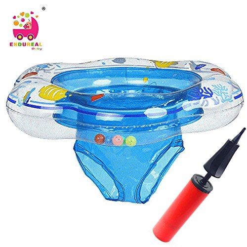 Schwimmring Baby Kinder Schwimmtrainer Aufblasbarer Flipper Kleinkind Baby-schwimmring Foat Babyfloat für Mehr als 6 Monate Kommt Mit Schneller Manueller Luftpumpe by Endureal(Blau)