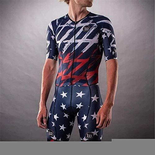 NHGFP QPM Jersey De Triatlón Skinsuit Vestimenta De Ciclismo Salpicaduras Hombre En Bicicleta Conjunto De Cuerpo Juego De Los Deportes De Velocidad MTB Mono (Color : 10, Size : XXL)