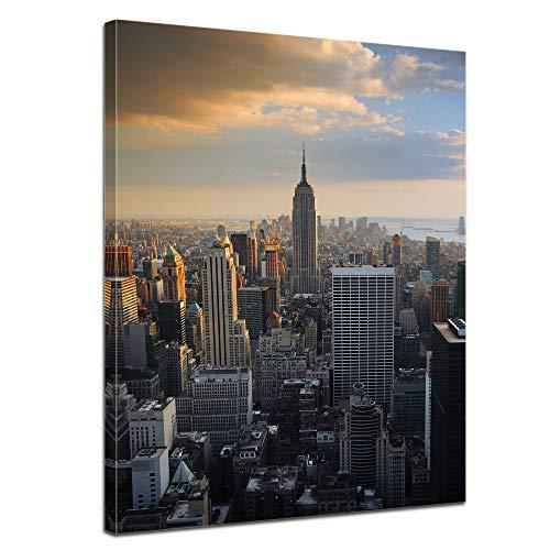Bilderdepot24 Bild auf Leinwand | New York City II in 60x80 cm als Wandbild | Wand-deko Dekoration Wohnung modern Bilder | 15084