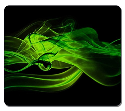 Large Mousepad 14167 Green Smoke Abstract Art Natural Eco Rubber Mousepad Design Durable Mouse Mat Computer Accessories Big Gaming Mouse Pad