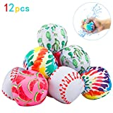 PAMASE 12 Pack 3 Inch Water Splash Balls-Beach Soaker Ball Water Bomb Toy for Children Summer Beach Swimming Pool Party Activities