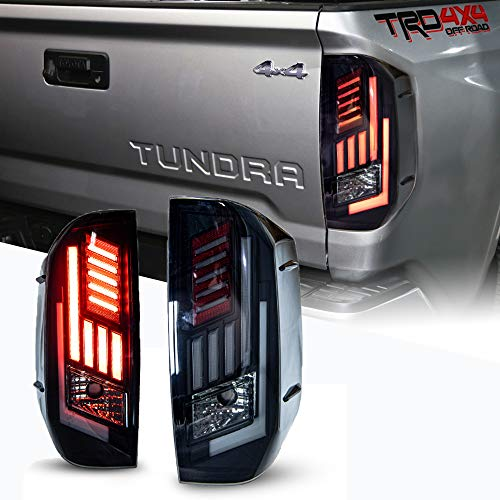 LED Tail Lights Fit for 2014-2020 Toyota Tundra,WOLFSTORM Tail Lights Assembly Replacement for...