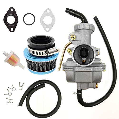 ATV Carburetor PZ20 Carb Set with Air Filter and Fuel Filter for 50cc 70cc 80cc 90cc 110cc 125cc TaoTao Honda Baja Coolster Quad Pit Bike Dirtbike Go Kart Moped Scooter
